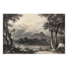 Landscape In Aosta Valley, Italy, 4 Panels