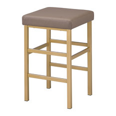 26-inch Gold Backless Stool Camel