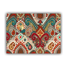 Boho Burst Red Indoor/Outdoor Placemats, Finished Edge, Set of 2