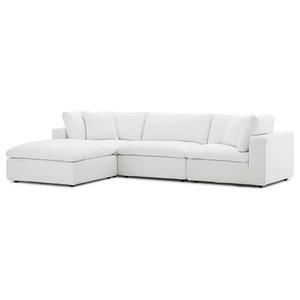 Fine Diana Pale Gray Leather Modern Sectional Sofa Contemporary Beatyapartments Chair Design Images Beatyapartmentscom
