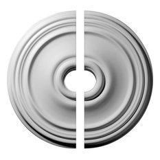 "21""ODx3.5""x1.25""P Reece Ceiling Medallion, 2-Piece Set"