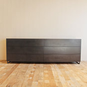 Modern All-Metal Dresser, Touch Release Drawers by Croft House