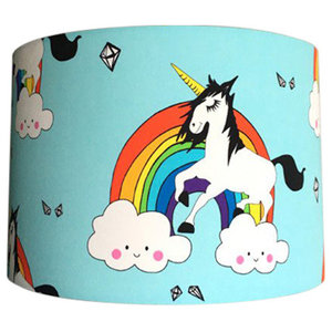 Patterned Lampshade, Rainbow Guy, 35x20 cm