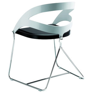 Duesy A Black and White Leather Chair