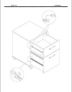 Bush Furniture Key West 2-Drawer Mobile Pedestal, Washed Gray - Transitional - Filing Cabinets ...