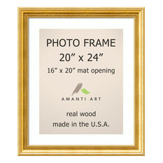 """Picture/Photo Frame 20""""x24 Matted to 16""""x20, Townhouse Gold, Outer Size 24""""x28"""""""