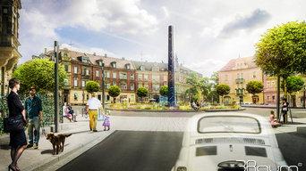 3D Visualisierung Landschaftsarchitektur, Lorlebergplatz