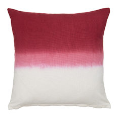 Dip Dye Decorative Pillow Cover, Red