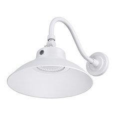 LED Gooseneck Barn Light, 42W, 150W, 5000K Daylight, White