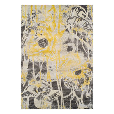 "Dalyn Modern Grays MG601 Area Rug, Lemon, 9'6""x13'2"" Rectangle"