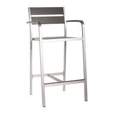 Zuo Modern Contemporary - Megapolis Bar Arm Chair Brush Aluminum Brushed Aluminum - Bar Stools  sc 1 st  Houzz & Brushed Aluminum Bar Stools u0026 Counter Stools | Houzz islam-shia.org