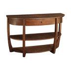 Hammary Boardwalk Sofa Table In Distressed Medium Brown