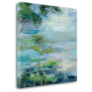 """Lily Pond I"" By Vassileva Silvia, Giclee Print on Gallery Wrap Canvas"