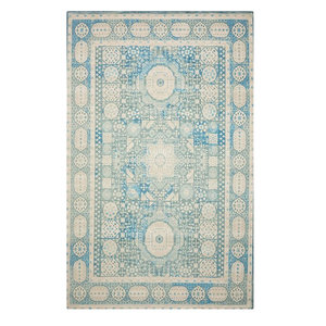 """Nourison Madera MAD03 Area Rug, Teal, 2'3""""x3'9"""" Rectangle"""