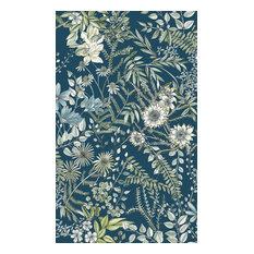Full Bloom Navy Floral Wallpaper Bolt