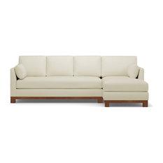 Apt2b Avalon 2 Piece Sectional Sofa Buckwheat Chaise On Left
