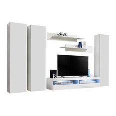 Fly CD1 35TV Wall Mounted Floating Modern Entertainment Center White