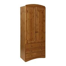 Scandi 2-Door Wardrobe With 3 Drawers, Pine