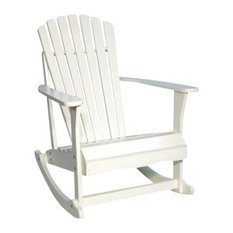 International Concepts   Adirondack Rocker, White   Outdoor Rocking Chairs