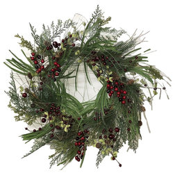 Contemporary Wreaths And Garlands by Flora Decor