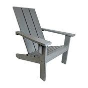 Modern Poly Adirondack Chair, Gray