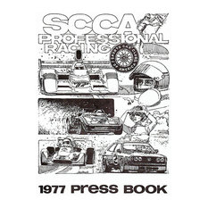 """1977 SCCA Professional Racing Press Book, Cover Poster, 13""""x19"""""""