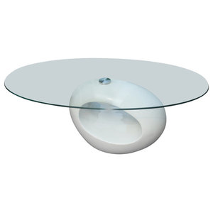 Coffee Table Oval, White