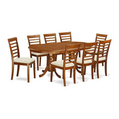9-Piece Dining Room Set Table Plus 8 Chairs With Cushion