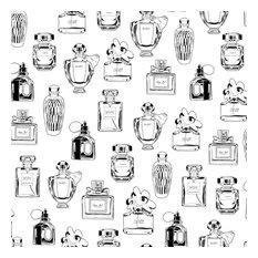 Chita White Perfume Bottles Wallpaper Bolt