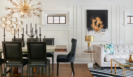 Black, White and Bold Decor Brings Drama to a Toronto Home