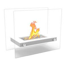 Regal Flame Monrow Ventless Tabletop Portable Bio Ethanol Fireplace, White