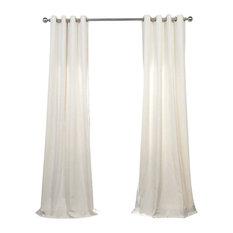 "Barley Grommet Heavy FauxLinen Curtain Single Panel, 50""x96"""