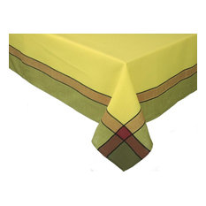 """Riviera Table Linens 60""""x140"""" Tablecloth, Celery"""