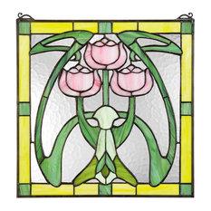 Glasgow Basket Tiffany-Style Stained Glass Window