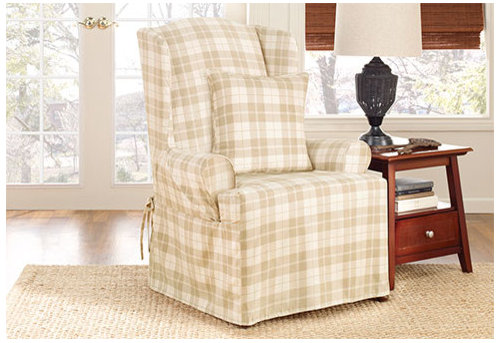 Incredible Surefit Wing Chair Slipcover Any Thoughts Gmtry Best Dining Table And Chair Ideas Images Gmtryco