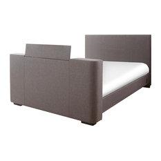 Newark TV Bed, Grey Hopsack