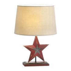 50 most popular southwestern table lamps for 2018 houzz slc farmhouse red star table lamp table lamps aloadofball Choice Image