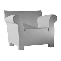 Bubble Club Armchair, Matte Light Gray