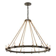 Extra large pendant lights houzz troy lighting pike place 16 light pendant extra large shipyard bronze pendant aloadofball Choice Image