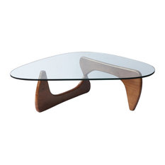 "Fine Mod Imports Tribeca Coffee Table, Mid Walnut, 16""hx50""wx36""d, Modern/Contem"