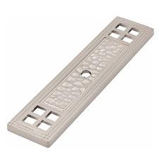 Arts & Crafts Cabinet Knob Backplate - Satin Nickel