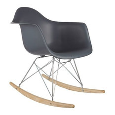 Poly And Bark   Poly And Bark Rocker Lounge Chair, Gray   Rocking Chairs