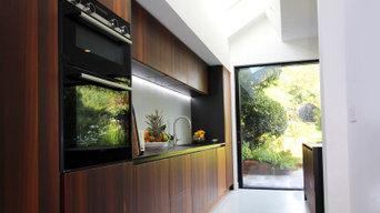 Modern open plan, kitchen, dining, living, flow to garden,  London