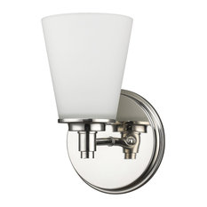 Acclaim Lighting   Conti Indoor 1 Light Sconce With Glass Shade, Polished  Nickel