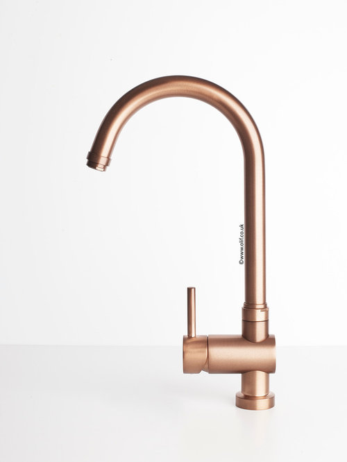 Brushed Copper Kitchen Mixer Taps