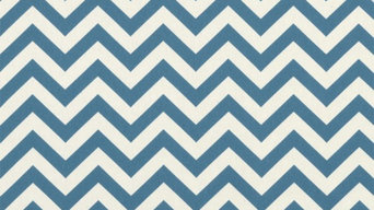 PREMIER PRINTS ZIGZAG DENIM/NATURAL FABRIC