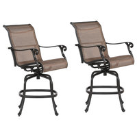 Stinson Sling Bar Stool With Aluminum Frame, All-Weather,Set of 2