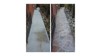 Decorative Overlay on Concrete Patio and Walkways (Offenbach)