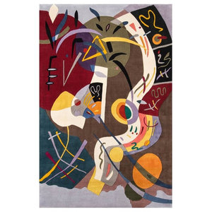 Abstract Hand Tufted Area Rug (7 ft. 6 in. L x 5 ft. W)