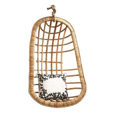 Twou0027s Company Hanging Rattan Egg Chair   Hammocks And Swing Chairs